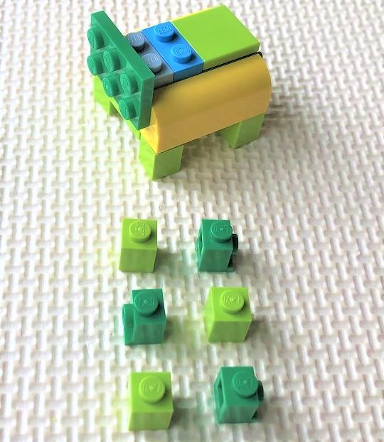 レゴ 犬の作り方