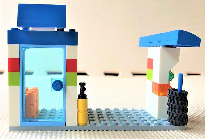 レゴ10715 ガソリンスタンドの作り方