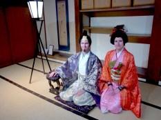Dressing up within Okayama castle
