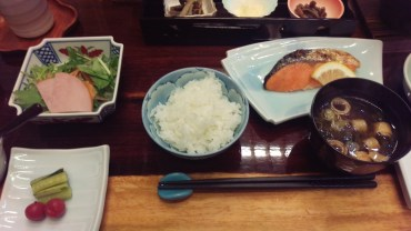 Breakfast in Nozawa-Onsen