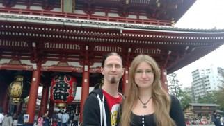 Us in front of Hōzōmon-Gate