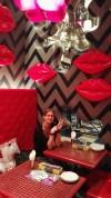 Bianca inside of Kawaii Monster Cafe