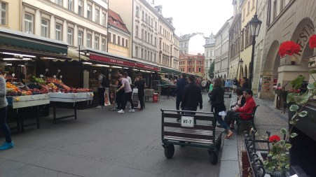 Next to Old Town Square