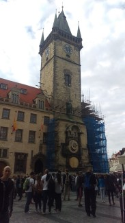 Astronomical clock under construction