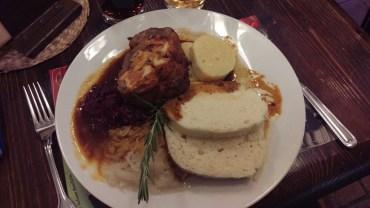 Having dinner in restaurant Mustek