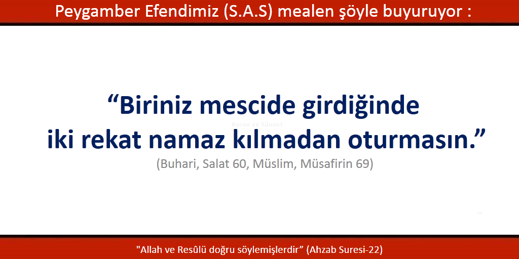 Tahiyyetü'l mescid namazı