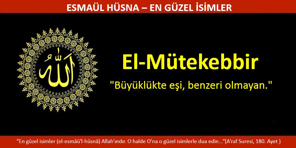 EL MÜTEKEBBİR