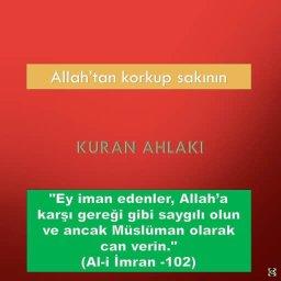 Allah'tan korkup sakının