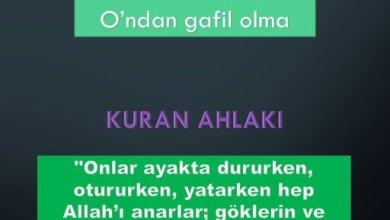 Photo of Daima Allah'ı an, O' ndan gafil olma