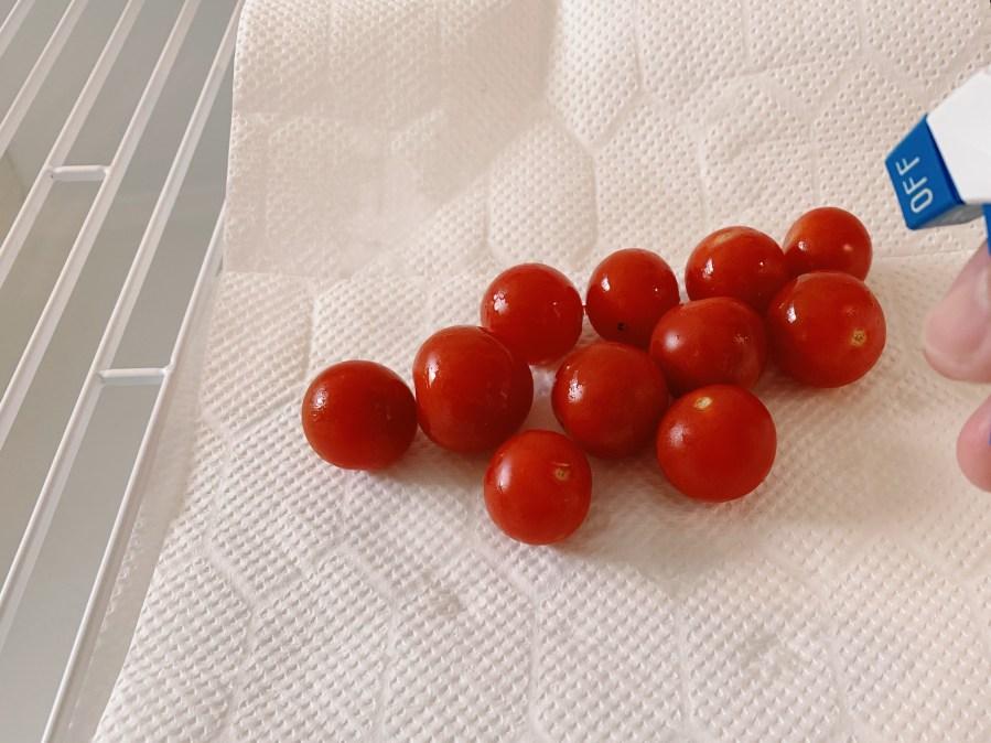 ミニトマトはパストリーゼで除菌