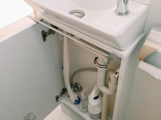 手洗い下の収納