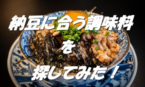 【会話型】納豆に合う調味料とは?実は入れると意外とおいしい!