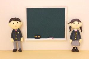 黒板と学生