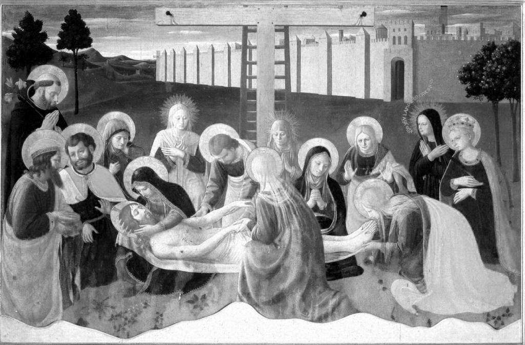 Opłakiwanie Jezusa - Fra Angelico.