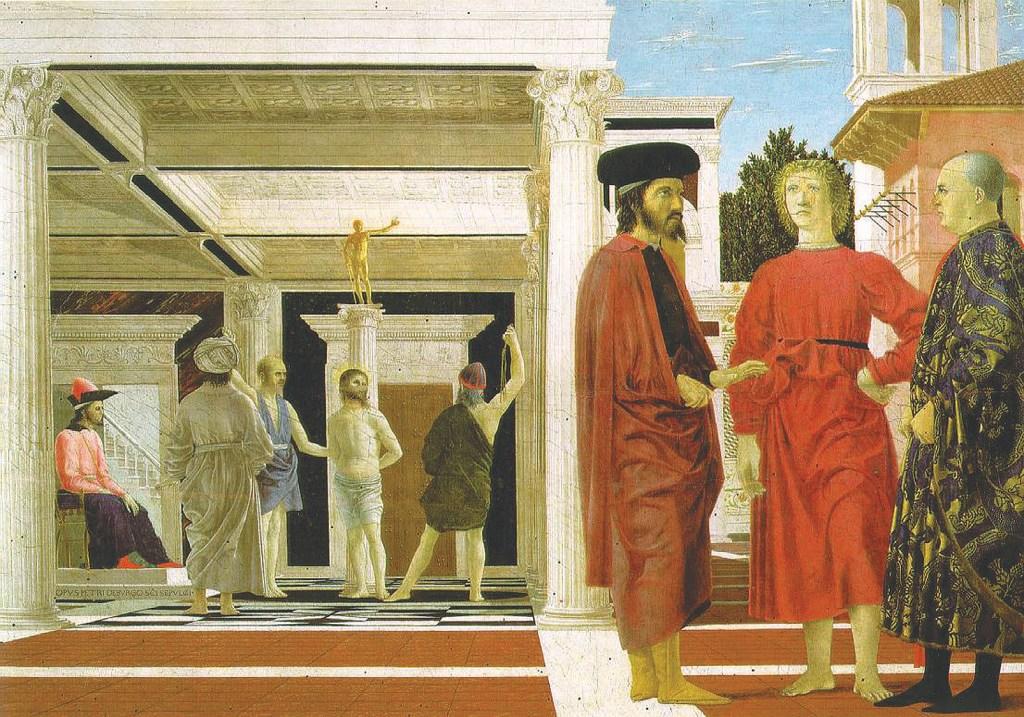 Biczowanie Chrystusa – Piero della Francesca.
