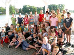 Zadowolone z pobytu w Ostródzie dzieci z rejonu wileńskiego Fot. archiwum ASRW