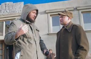 Paweł Chochlewa i Piotr Adamczyk na planie Fot. Marian Paluszkiewicz