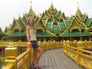 Agnieszkę urzekła niepowtarzalna architektura Tajlandii Fot. archiwum