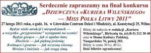"""Miss Polka Litwy — Dziewczyna """"Kuriera Wileńskiego"""" 2011"""