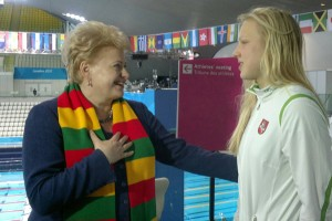Występowi Rūty kibicowała nawet prezydent Litwy Dalia Grybauskaitė Fot. ELTA