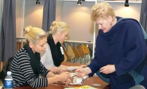 W przedterminowym głosowaniu udział wczoraj wzięła prezydent Dalia Grybauskaitė     Fot. Marian Paluszkiewicz