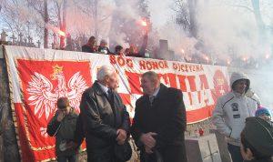 Wśród uczestników obchodów byli przedstawiciele społeczności polskiej Fot. Marian Paluszkiewicz