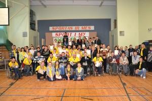 Do rywalizacji sportowej stanęło ponad 50 niepełnosprawnych osób z całego rejonu wileńskiego