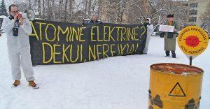 Litewscy zieloni grozili, że to zaledwie początek ich walki przeciwko elektrowniom atomowym Fot. Marian Paluszkiewicz