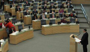 Algirdas Butkevičius przedstawił w Sejmie program nowego rządu Fot. ELTA