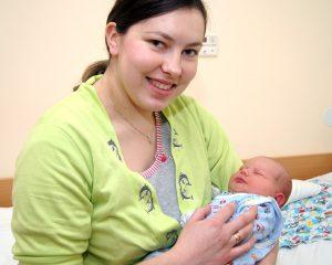 Irena Wojtkiewicz urodziła synka w ostatnim dniu starego roku Fot. Marian Paluszkiewicz
