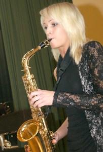 Diana Voroneckaja zagrała na saksofonie Fot. Marian Paluszkiewicz