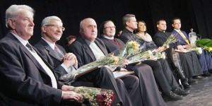"""Szanowne grono laureatów konkursu """"Polak Roku 2012"""" Fot. Marian Paluszkiewicz"""