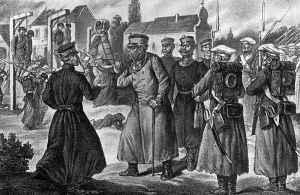 Wieszatiel w Wilnie (grafika z 1863-1913. Album Powstania Styczniowego — w pięćdziesiątą rocznicę, Lwów 1913