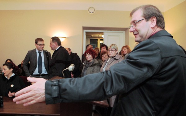 W poniedziałek Wiktor Uspaskich uczestniczył w toczącym się w Wileńskim Sądzie Okręgowym procesie sądowym Partii Pracy Fot. ELTA