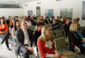 """Przedstawiciele władzy lokalnej zaprezentowali projekt """"Verslo vektorius"""", jego cele oraz tematy szkoleń"""