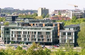 Na miejscu starych dzielnic Wilna powstają nowe Fot. Marian Paluszkiewicz