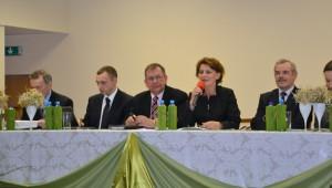 Wiceminister rolnictwa Leokadia Poczykowskazachęcała młodzież,aby wybierała fach rolniczy