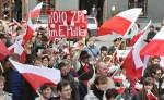 Na pochód do Wilna przybyli Polacy ze wszystkich zakątków Litwy Fot. Marian Paluszkiewicz