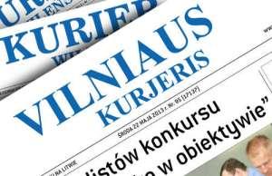 """Spółka wydawnicza """"Kurier Wilenski"""" może pozostać przy tej samej nazwie nie zmieniając jej na litewskojęzyczną """"Vilniaus Kurjeris""""<br/>Fotomontaż Marian Paluszkiewicz"""