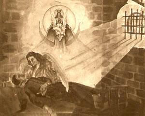 Rysunek autorstwa współwięźnia ks. Augustyna Piórko Fot. archiwum