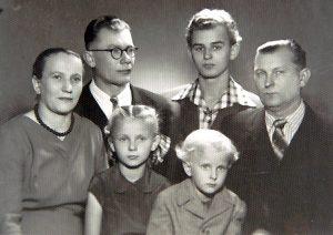 Przyszły kapłan w rodzinnym gronie Fot.archiwum