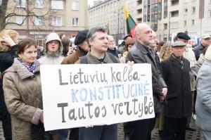 Przed niespełna miesiącem odbyła się pikieta w obronie języka litewskiego Fot. Marian Paluszkiewicz