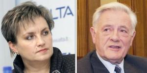 Posłance Mikutienė na razie nie udało się obarczyć winą prezydenta Adamkusa za słowa opublikowane w jego prezydenckich pamiętnikach Fot. Marian Paluszkiewicz