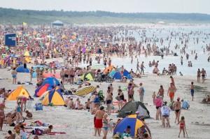 Widok ogólny plaży w pogodne (o ile się trafią) dnie Fot. archiwum