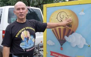Reklama znanych firm na balonach opłaca koszty jego nabycia po kilku latach Fot. Marian Paluszkiewicz