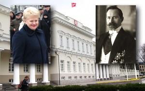 Prezydentów Smetonę i Grybauskaitė łączy nie tylko wspólna Alma Mater i ciągotki dyktatorskie, ale też podobna niechęć do uznania praw polskiej mniejszości Fotomontaż Marian Paluszkiewicz