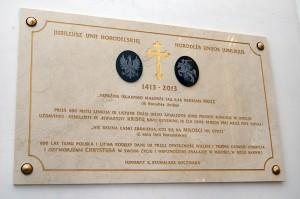 W wileńskim kościele pw. Wniebowzięcia Najświętszej Maryi Panny odsłonięto tablicę, upamiętniającą Unię Horodelską Fot. Marian Paluszkiewicz