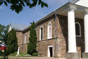 W ejszyskim kościele została odprawiona msza dla żołnierzy hiszpańskiej Błękitnej Dywizji<br/>Fot. Marian Paluszkiewicz