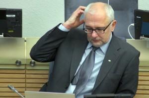 Walczący z mniejszościami narodowymi minister Pavalkis imituje swoją aktywność na stanowisku szefa resortu? Fot. Marian Paluszkiewicz