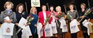 Podczas uroczystości zostały uhonorowane nauczycielki języka polskiego Fot. Marian Paluszkiewicz